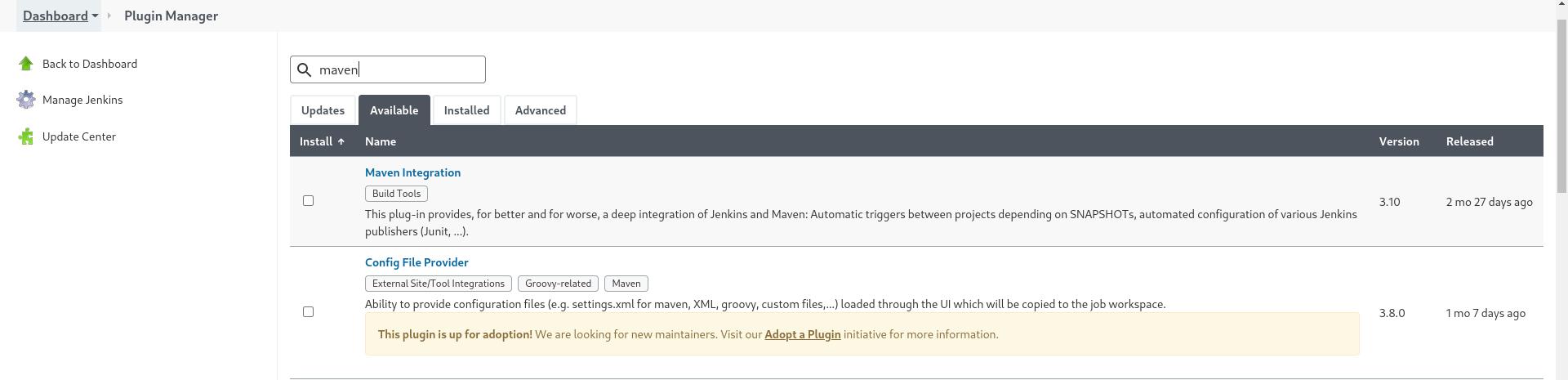 Maven Integration plugin