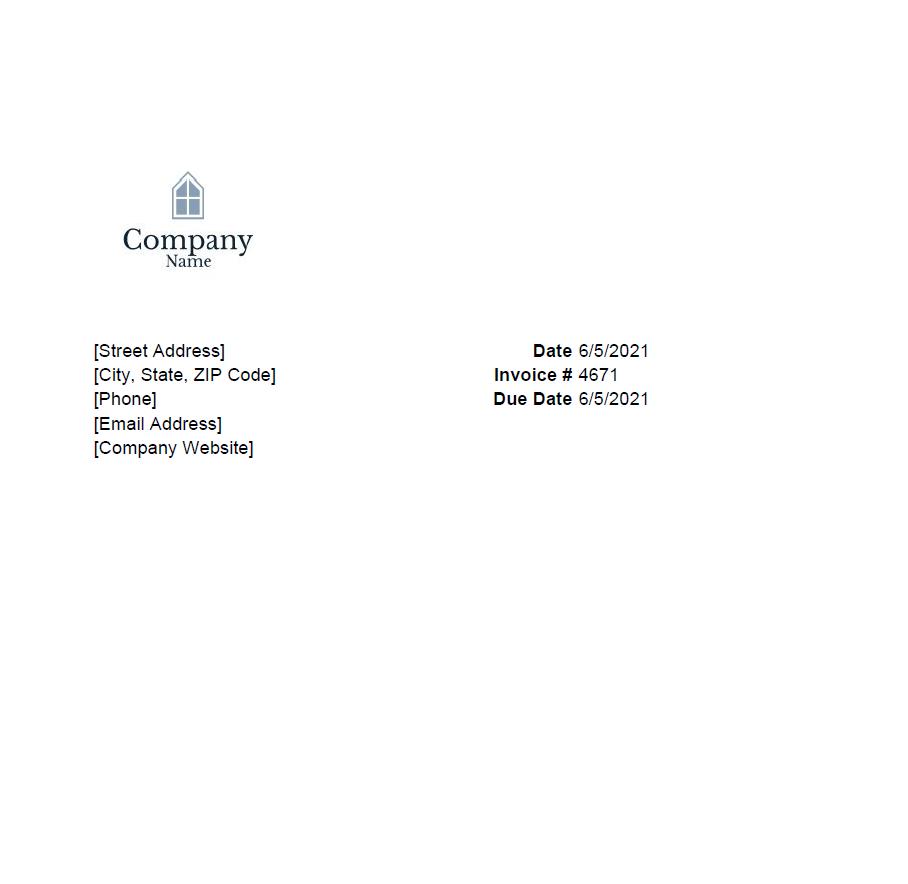 borb invoice 1
