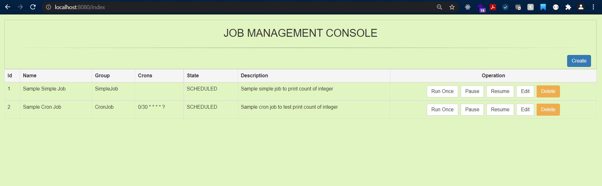 Job Management Console