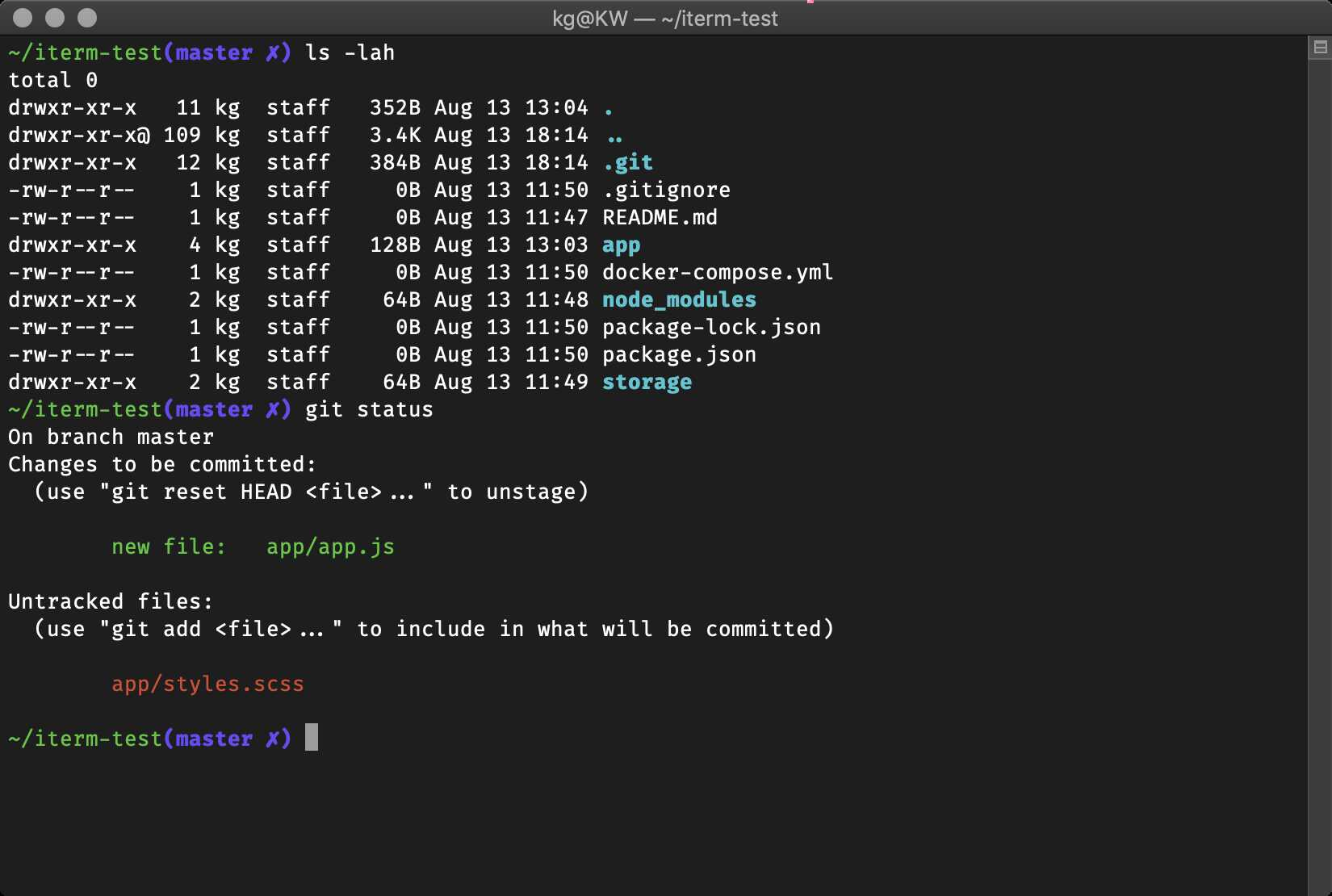 """Oh My Zsh - """"simple"""" theme"""