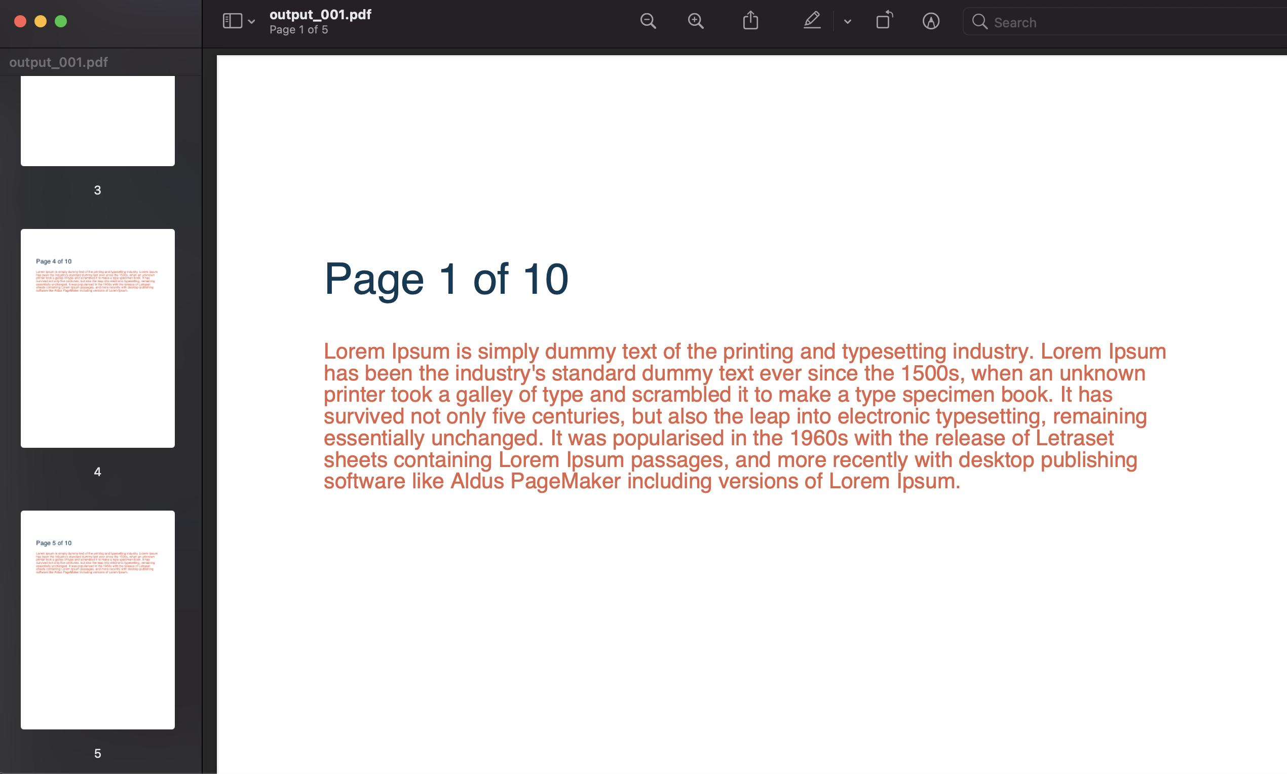 splitting a pdf document in python