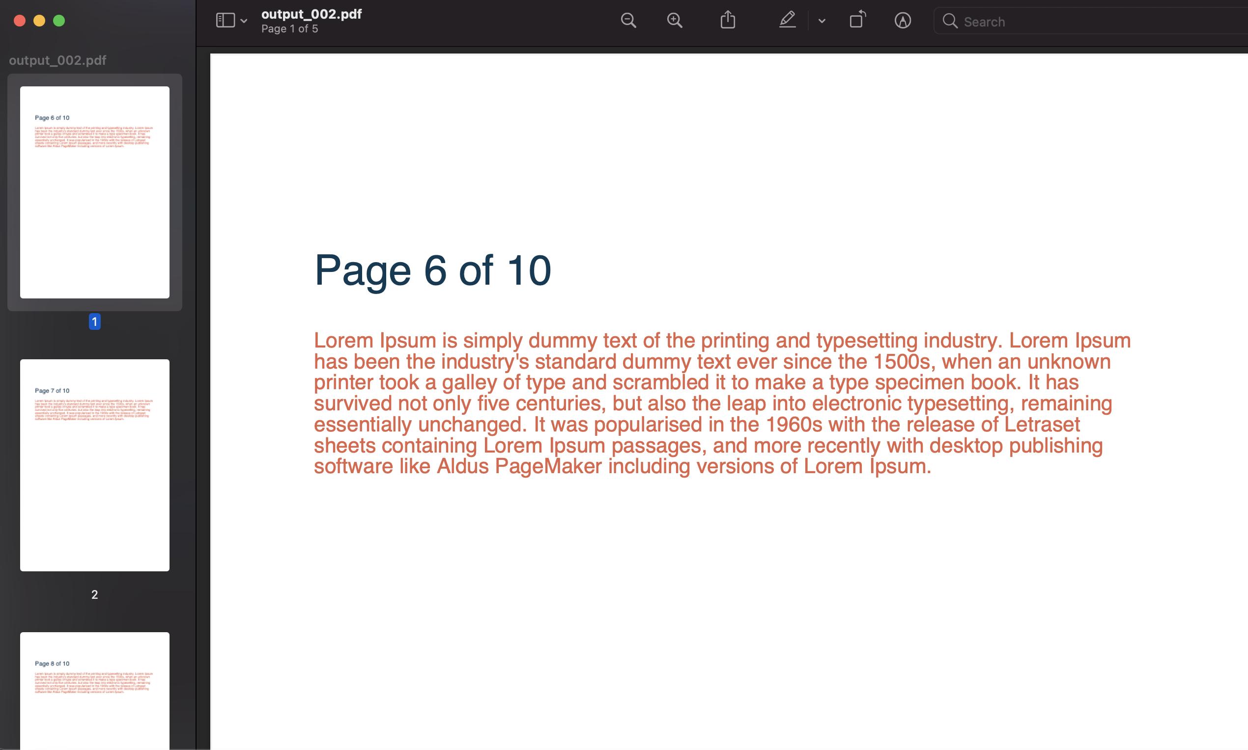 spllitting a pdf document in python