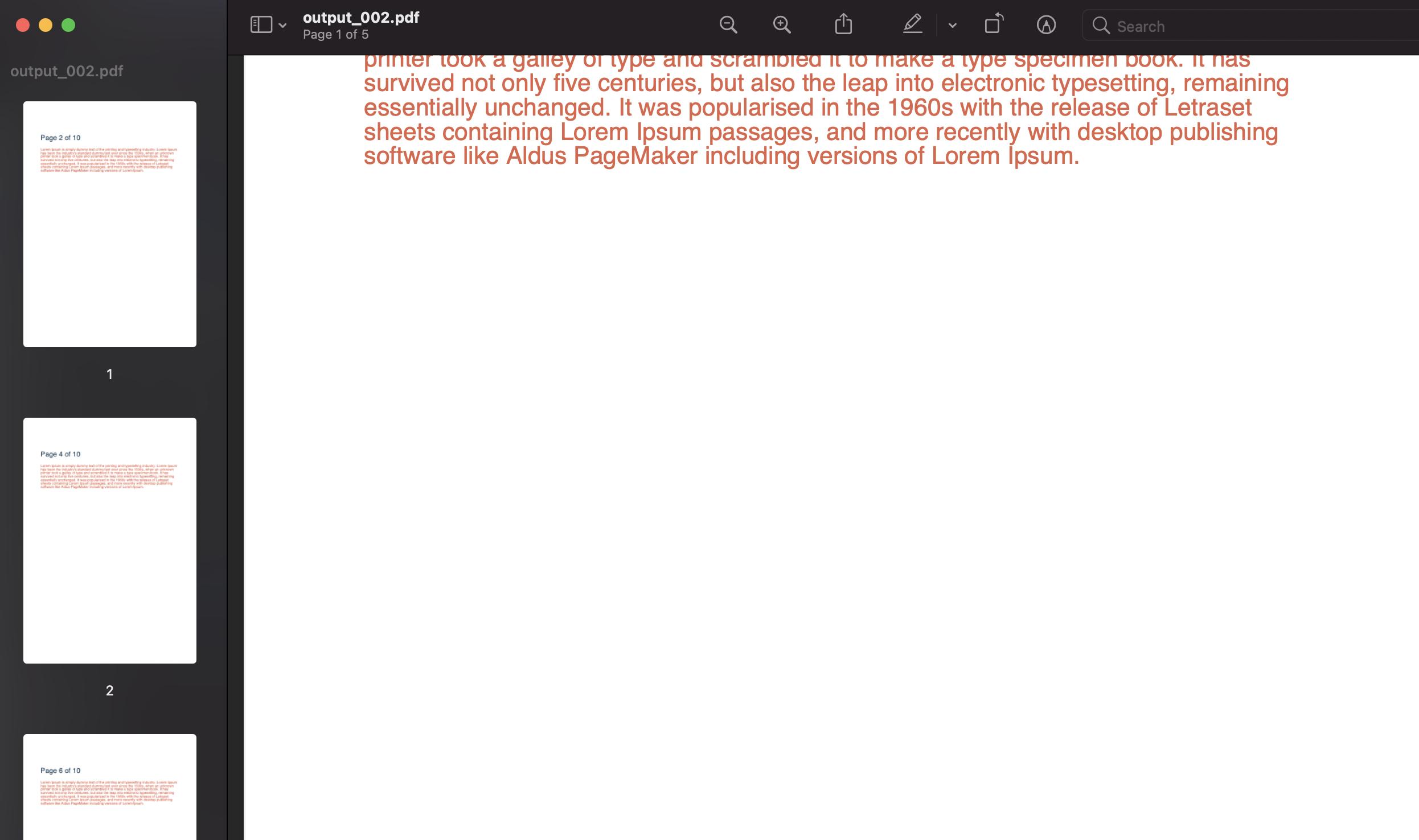 split pdf on odd pages