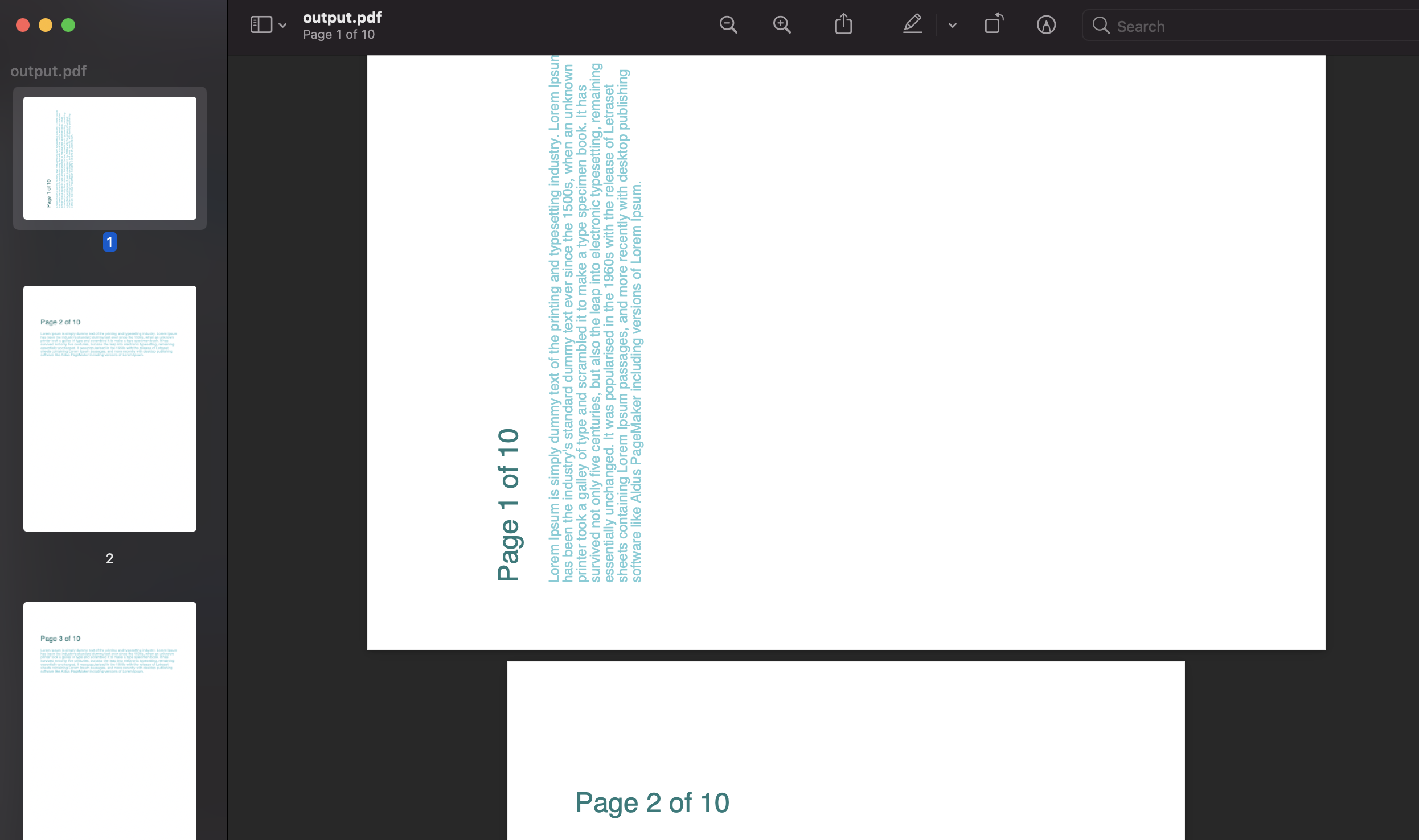 rotating pages of pdf documents in python