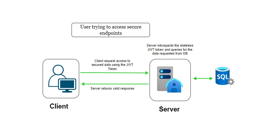 User Accessing Endpoint Workflow
